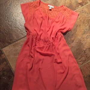 Coral tunic maternity top